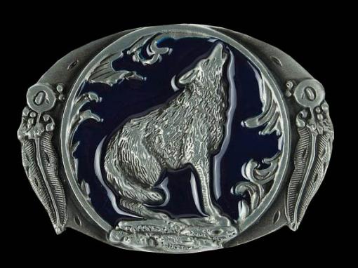 Пряжка для ремня Волк