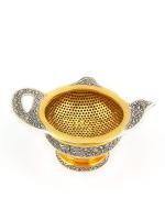 Серебряное Ситечко для чая с подставкой Чайник