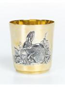 Серебреная Стакан год кролика