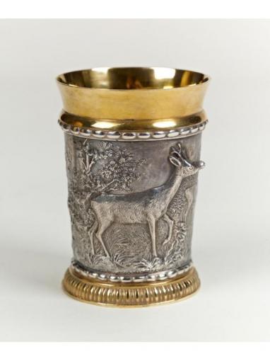 Серебряный Стакан Охота и олень