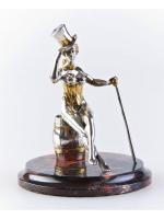Серебреная статуэтка Танцовщица кабаре