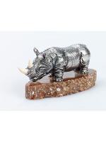 Серебреная Статуэтка Носорог