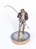 Серебреная Статуэтка Рыбак