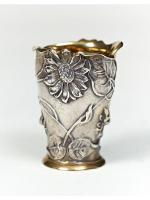 Серебреная стопка Цветы