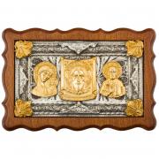 Триптих автомобильный (серебро, золото)