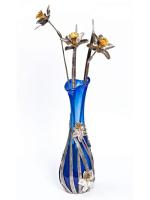Серебреная Ваза Нарциссы с цветами