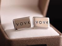 Запонки с логотипом VOVK
