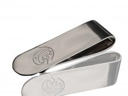 Серебряный зажим для денег с логотипом